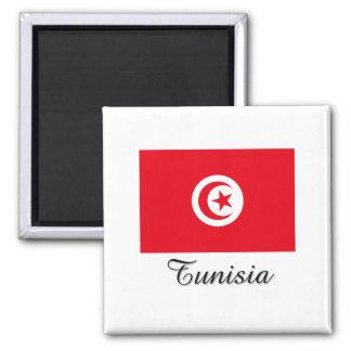 Tunesien-Flaggen-Entwurf Quadratischer Magnet
