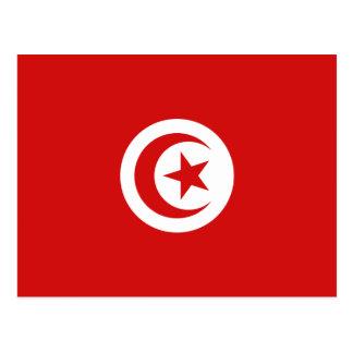 Tunesien-Flaggen-Postkarte Postkarte