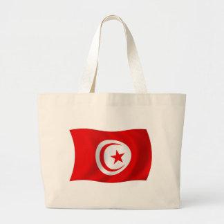 Tunesien-Flaggen-Taschen-Tasche Jumbo Stoffbeutel