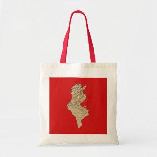 Tunesien-Karten-Tasche Tragetasche