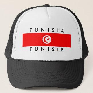 Tunesien-Landesflaggenamentext-Symbol tunisie Truckerkappe