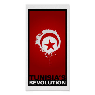 """Tunesiens Revolution "" Plakat"