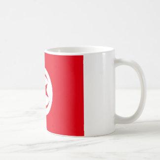 Tunesische Flagge Kaffeetasse