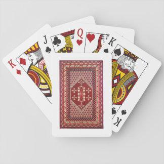 Tunesischer traditioneller Teppich Spielkarten