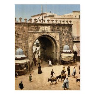 Tunis. La porte franç aise Klassiker Postkarte