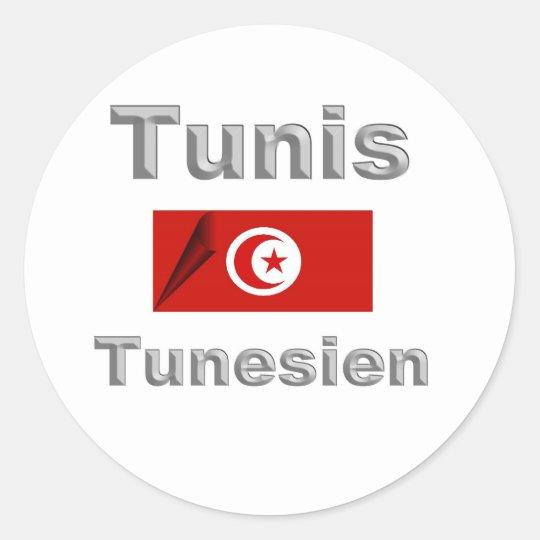 Tunis Runder Aufkleber