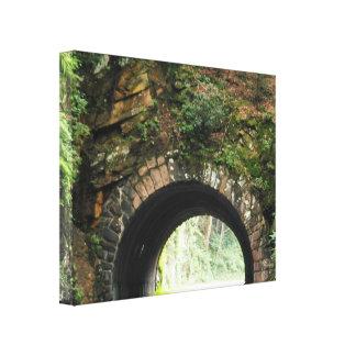 Tunnel-große rauchige GebirgsLeinwand Leinwanddruck