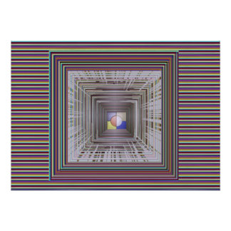 TUNNEL kosmische Energie-Ewigkeits-Unendlichkeit Poster