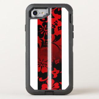 Tunnel-Strand-hawaiisches Hibiskus-Surfbrett OtterBox Defender iPhone 8/7 Hülle