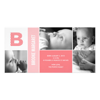 Tupfen-Anfangsbaby-Geburts-Mitteilung Bildkarten