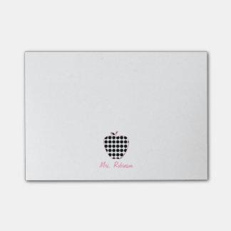 Tupfen-Apple-Lehrer Post-it Haftnotiz