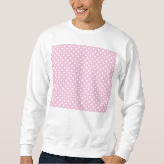 Tupfen auf süßem rosa Hintergrund-Sweatshirt Sweatshirt