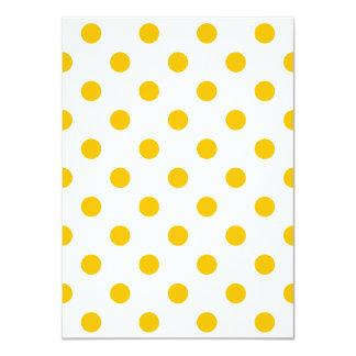 Tupfen - Bernstein auf Weiß 11,4 X 15,9 Cm Einladungskarte