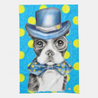 Tupfen Bostons Terrier Handtuch