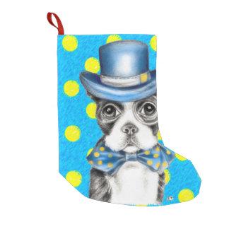 Tupfen Bostons Terrier Kleiner Weihnachtsstrumpf