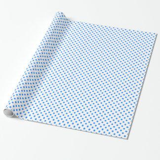 Tupfen - Dodger-Blau auf Weiß Geschenkpapier