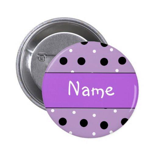 Tupfen-Entwurf - fertigen Sie mit Ihrem Namen beso Anstecknadelbutton