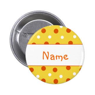 Tupfen-Entwurf - fertigen Sie mit Ihrem Namen beso Runder Button 5,7 Cm