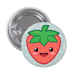 Tupfen-Erdbeere Runder Button 2,5 Cm
