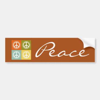 Tupfen-Friedenszeichen-Symbol auf Brown Autoaufkleber