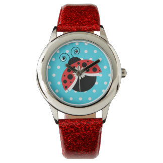 Tupfen-Gänseblümchen-Armbanduhr-Marienkäfer Armbanduhr