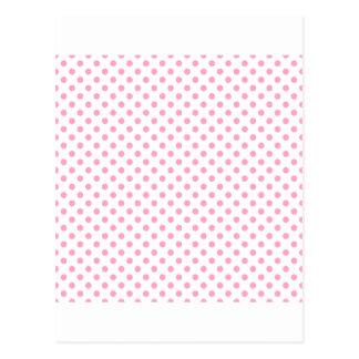 Tupfen - Gartennelken-Rosa auf Weiß Postkarte