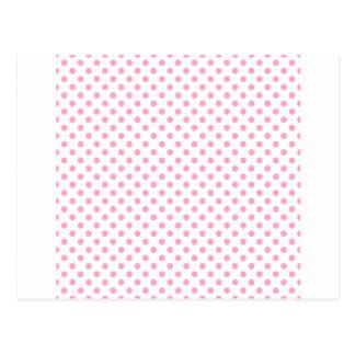 Tupfen - Gartennelken-Rosa auf Weiß Postkarten