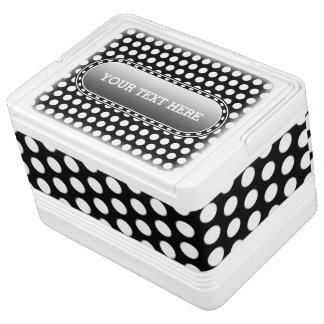 Tupfen-Gitterschwarzes + Ihre Hintergrundfarbe Kühlbox