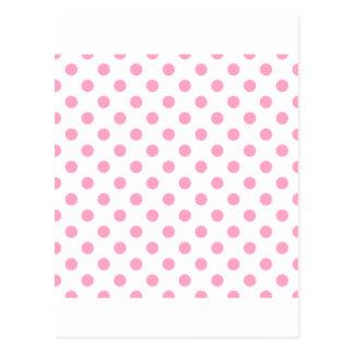 Tupfen groß - Gartennelken-Rosa auf Weiß Postkarte