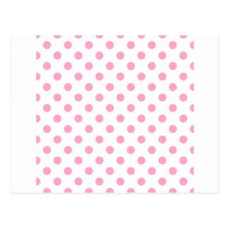 Tupfen groß - Gartennelken-Rosa auf Weiß Postkarten