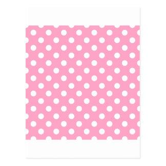 Tupfen groß - Weiß auf Gartennelken-Rosa Postkarten