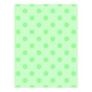 Tupfen - Grün auf hellgrünem Postkarte