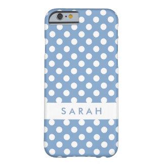 Tupfen in modischem Wedgwood Blau und Weiß Barely There iPhone 6 Hülle
