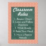 Tupfen-Klassenzimmer ordnet Plakat an