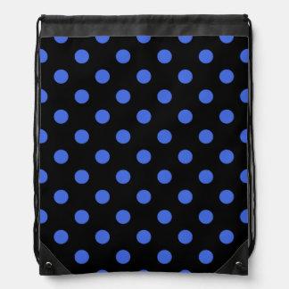 Tupfen - Königsblau auf Schwarzem Sportbeutel