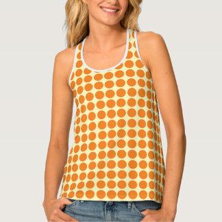 Tupfen-Kreis-Druck-orange Gelb Tanktop