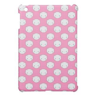 Tupfen-Miezekatze-rosa und weißes iPad Mini Hülle
