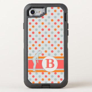 Tupfen-Monogramm für Golfspieler OtterBox Defender iPhone 8/7 Hülle