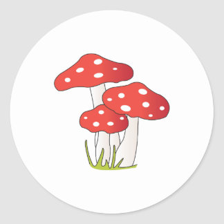 Tupfen-Pilze Runder Aufkleber