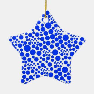tupfen punkte pünktchen kreise spots points dots 7 keramik Stern-Ornament