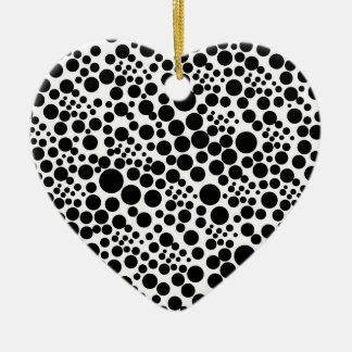 tupfen punkte pünktchen kreise spots points herz keramik Herz-Ornament