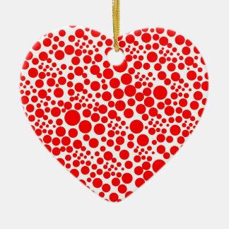 tupfen punkte pünktchen kreise spots points rot keramik Herz-Ornament