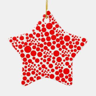 tupfen punkte pünktchen kreise spots points rot keramik Stern-Ornament
