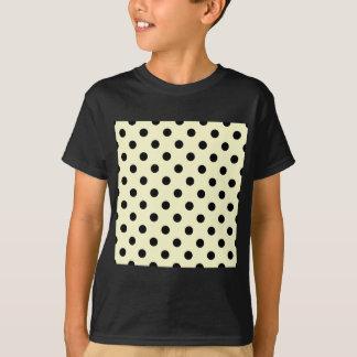 Tupfen - Schwarzes auf Creme T-Shirt