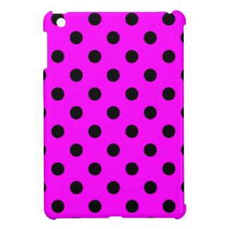 Tupfen - Schwarzes auf Fuchsie iPad Mini Hüllen