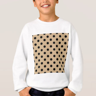 Tupfen - Schwarzes auf TAN Sweatshirt