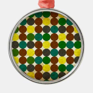 Tupfen Silbernes Ornament