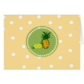 Tupfen und Ananas Mitteilungskarte