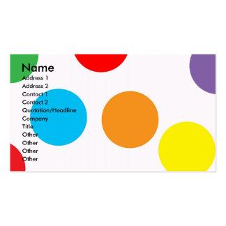 Tupfen-Visitenkarte Visitenkarten