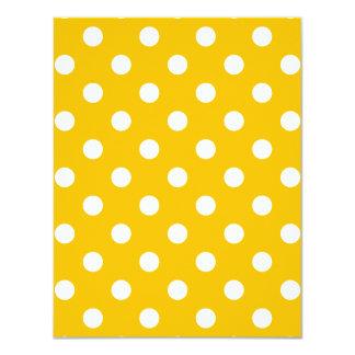 Tupfen - Weiß auf Bernstein 10,8 X 14 Cm Einladungskarte